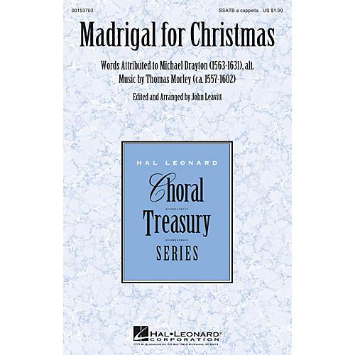 Hal Leonard Madrigal for Christmas SSATB A Cappella arranged by John Leavitt-thumbnail