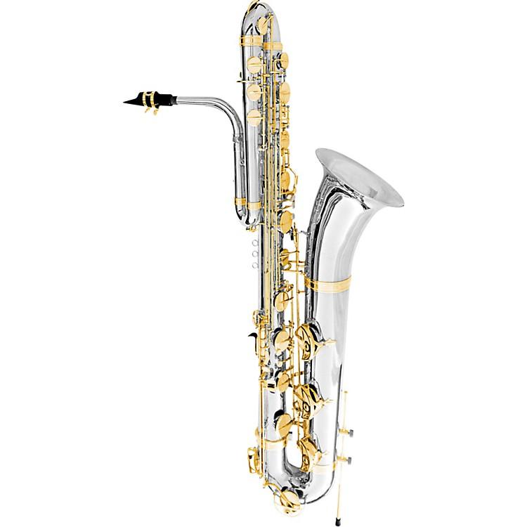OlegMaestro Bass SaxophoneSilver Plated W/Gold Keys