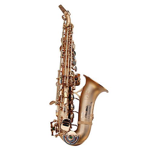 Oleg Maestro Curved Soprano Saxophone Black Nickel with Silver Keys
