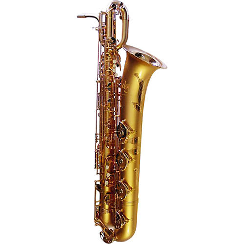 Oleg Maestro Series Baritone Saxophone Silver Plated W/Gold Keys