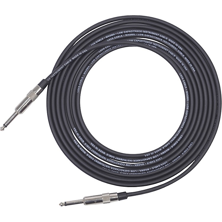 Lava Magma Instrument Cable Straight to Straight Black 25 Feet