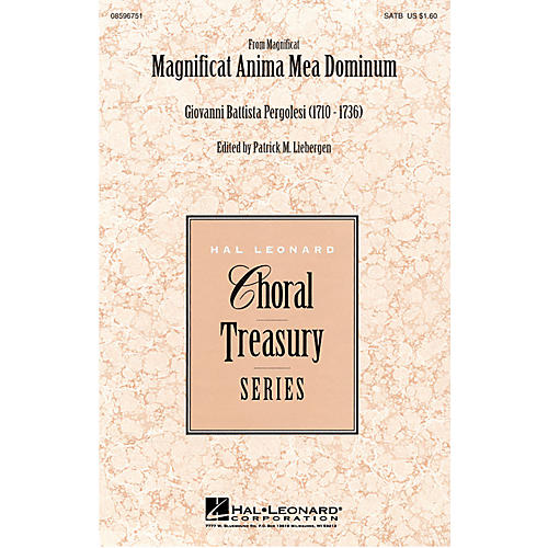 Hal Leonard Magnificat Anima Mea Dominum SATB arranged by Patrick M. Liebergen-thumbnail