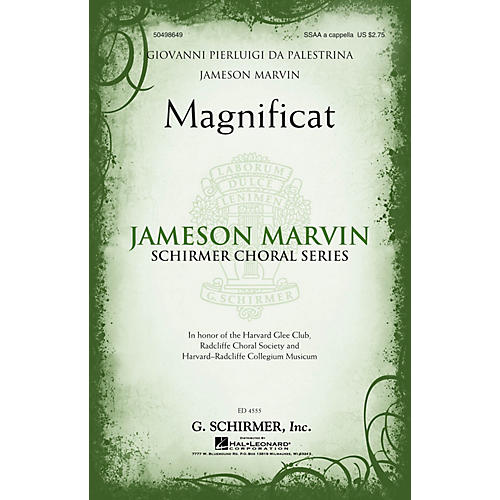 G. Schirmer Magnificat (Jameson Marvin Choral Series) SSAA A Cappella arranged by Jameson Marvin-thumbnail