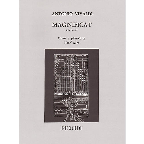 Ricordi Magnificat RV610a/RV611 (Vocal Score) SATB Composed by Antonio Vivaldi Edited by Raffaele Cumar-thumbnail