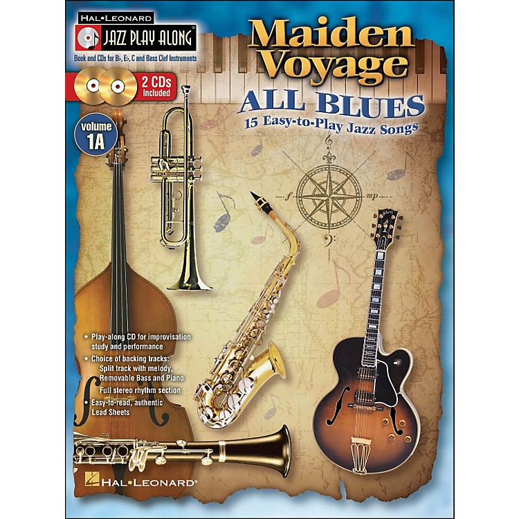Hal Leonard Maiden Voyage/All Blues - Jazz Play-Along Vol. 1A (Book/2 CDs) 15 Easy-To-Play Jazz Songs