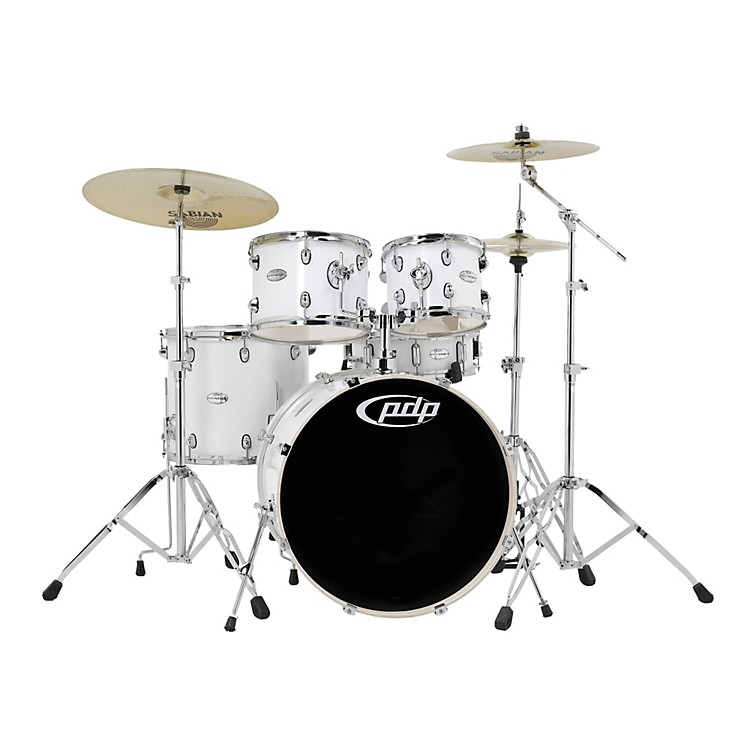 PDP Mainstage 5-piece Drum Set with Sabian Cymbals White