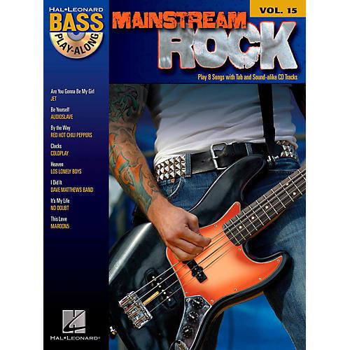 Hal Leonard Mainstream Rock - Bass Play-Along Volume 15 Book/CD-thumbnail