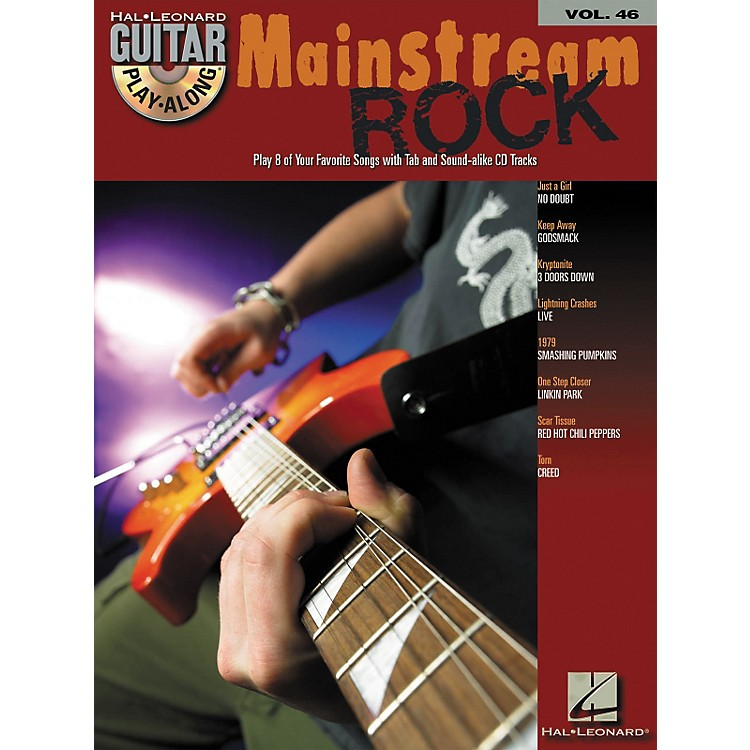 Hal Leonard Mainstream Rock Guitar Play-Along Volume 46 Book with CD