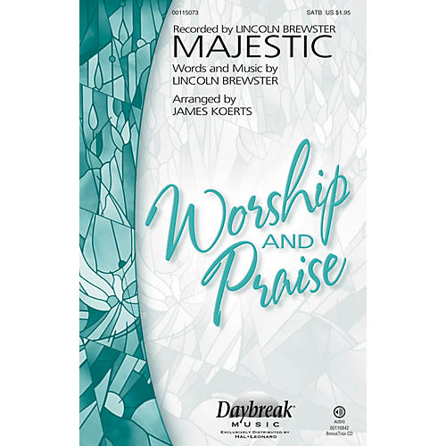 Daybreak Music Majestic SATB by Lincoln Brewster arranged by James Koerts-thumbnail