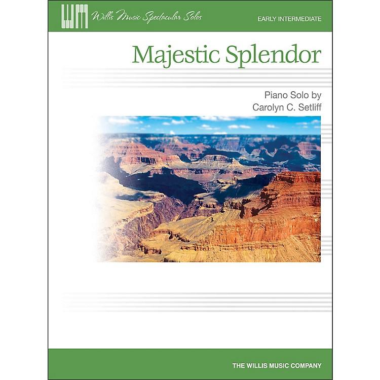 Willis MusicMajestic Splendor - Early Intermediate Piano Solo Sheet
