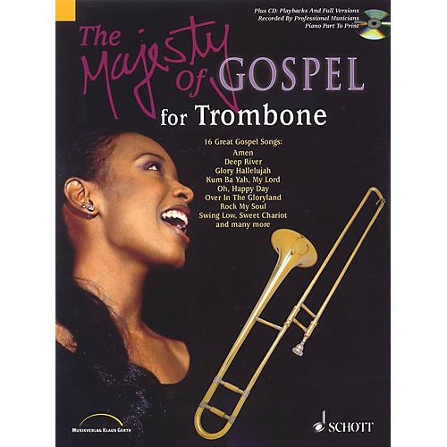 Schott Majesty of Gospel (Trombone) Schott Series Softcover with CD-thumbnail