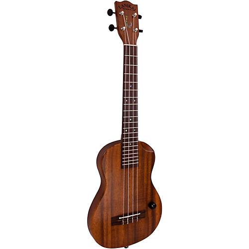 Lanikai Makapu u-T Hawaiian Solid Body Acoustic-Electric Tenor Ukulele Koa Top