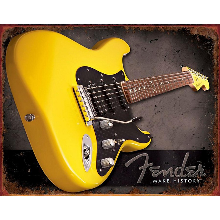 FenderMake History Tin Sign