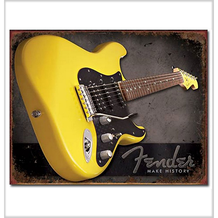 Fender Make History Tin Sign