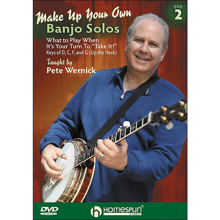 Homespun Make Up Your Own Banjo Solos DVD 2 By Pete Wernick