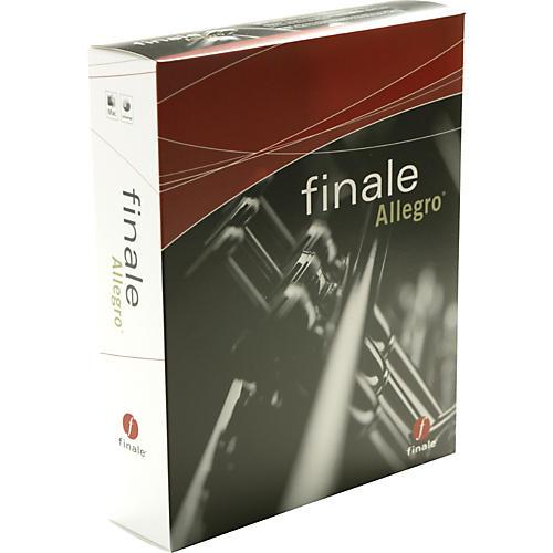 Finale MakeMusic Allegro Music Notation Software
