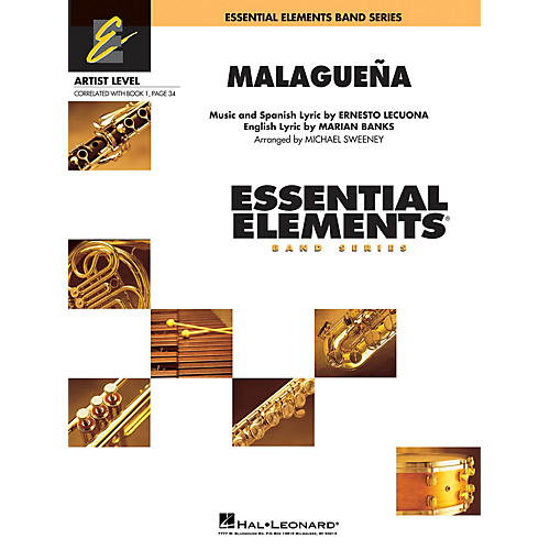 Hal Leonard Malagueña (Includes Full Performance CD) Concert Band Level 1 Arranged by Michael Sweeney-thumbnail