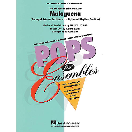 Hal Leonard Malagueña (Trumpet Trio or Ensemble (opt. rhythm section)) Concert Band Level 2.5 Arranged by Paul Murtha-thumbnail