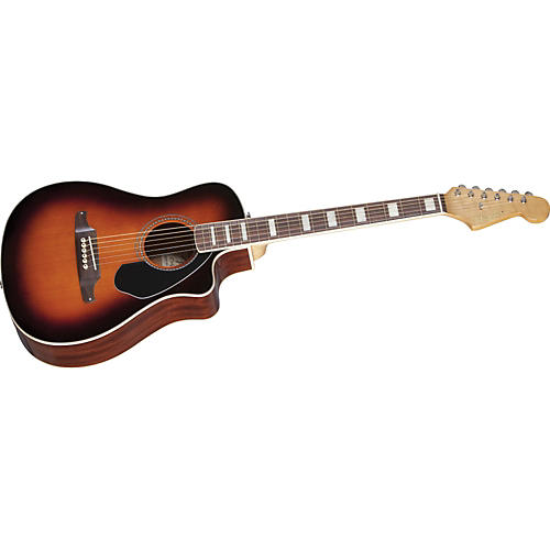 Fender Malibu SCE Solid Top Cutaway Acoustic-Electric Guitar-thumbnail