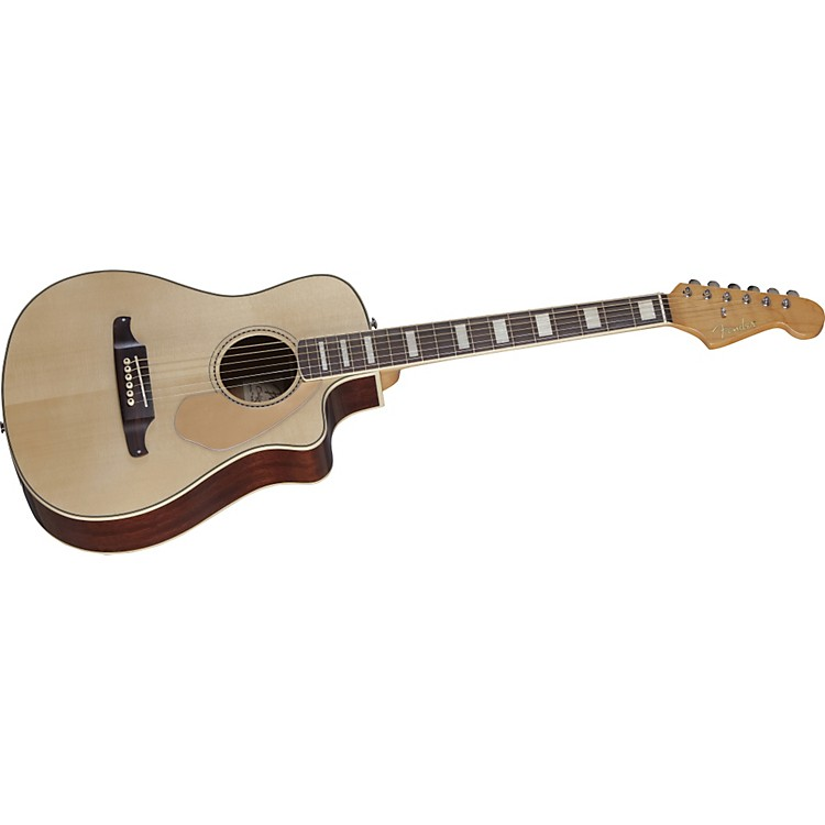 Fender Malibu SCE Solid Top Cutaway Acoustic-Electric Guitar