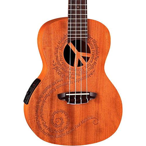 Luna Guitars Maluhia Concert Acousti- Electric Ukulele Mahogany