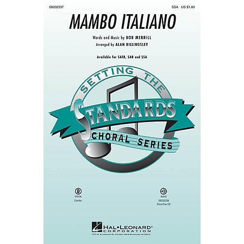 Hal Leonard Mambo Italiano (SSA) SSA by Rosemary Clooney arranged by Alan Billingsley