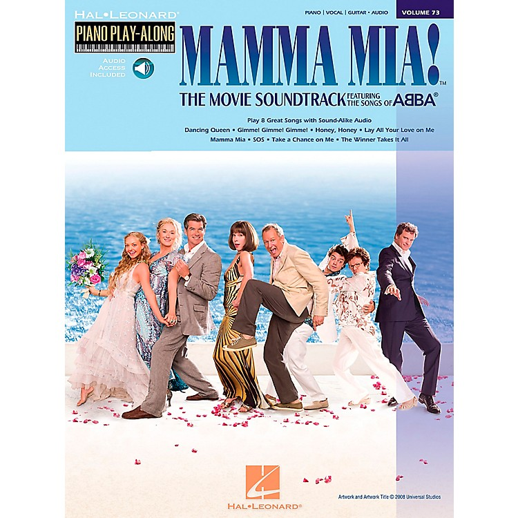 Hal LeonardMamma Mia! The Movie Piano Play-Along Volume 73 Book/CD arranged for piano, vocal, and guitar (P/V/G)