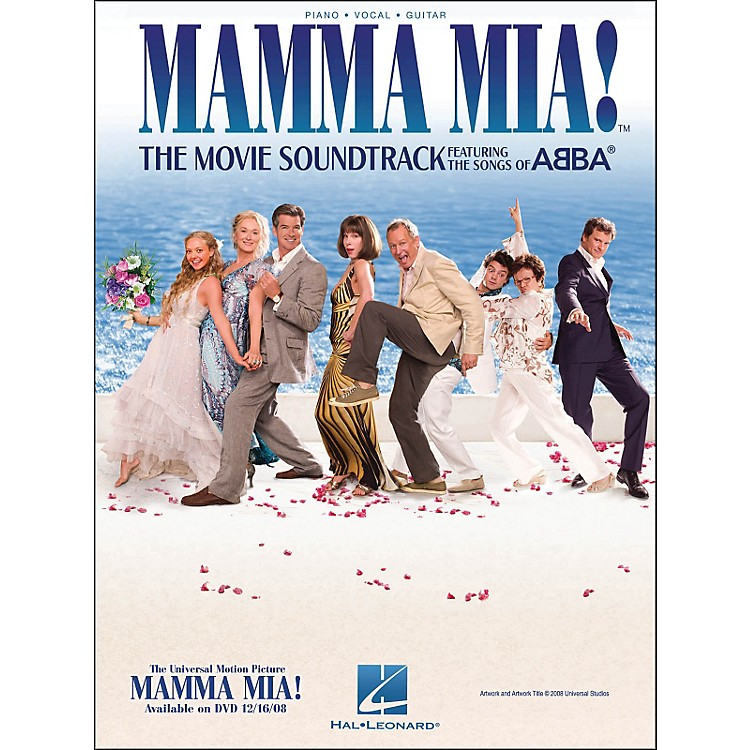 Hal Leonard Mamma Mia The Movie Soundtrack arranged for piano, vocal, and guitar