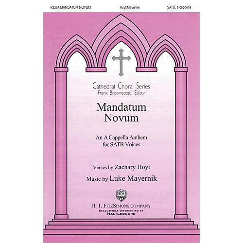 H.T. FitzSimons Company Mandatum Novum SATB a cappella composed by Zachary Hoyt-thumbnail