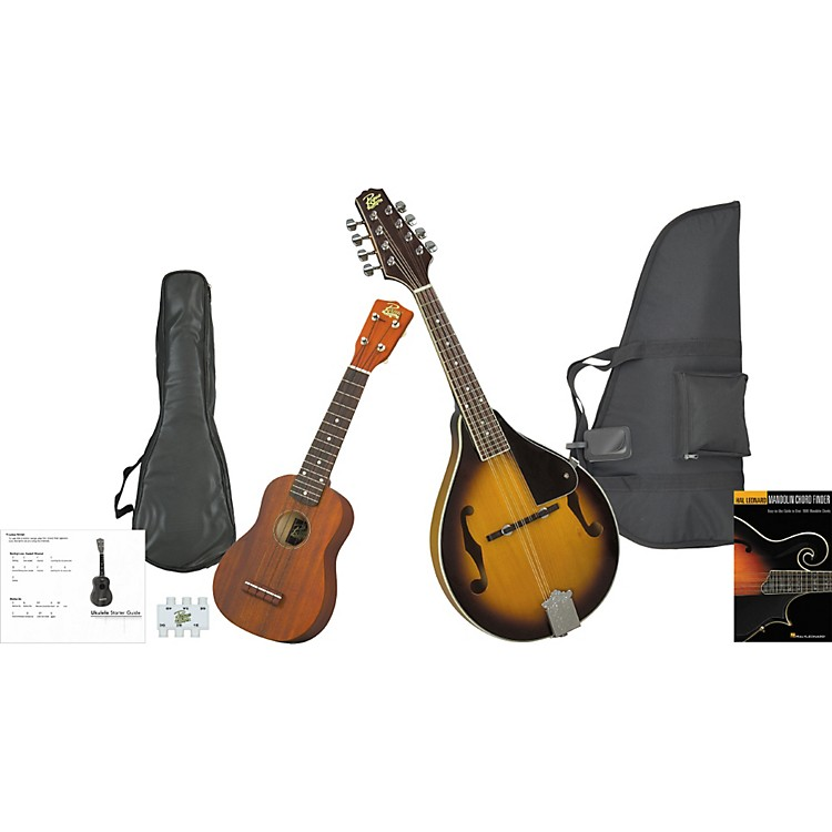 Rogue Mandolin And Ukulele Travel Pack Sunburst
