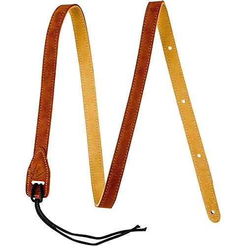 Fender Mandolin Durable Suede Leather Strap Tobacco 2 in.