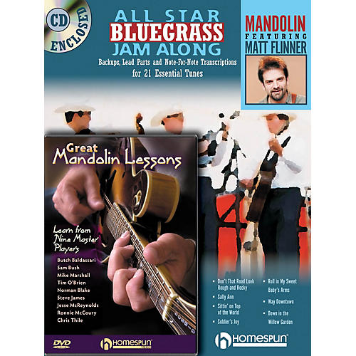 Homespun Mandolin Jam Along Bundle Pack Homespun Tapes Series Performed by Matt Flinner-thumbnail