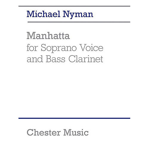 Chester Music Manhatta Music Sales America Series Softcover Composed by Michael Nyman-thumbnail
