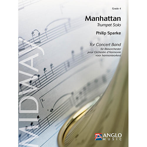 Anglo Music Press Manhattan (Grade 4 - Score and Parts) Concert Band Level 4 Composed by Philip Sparke-thumbnail