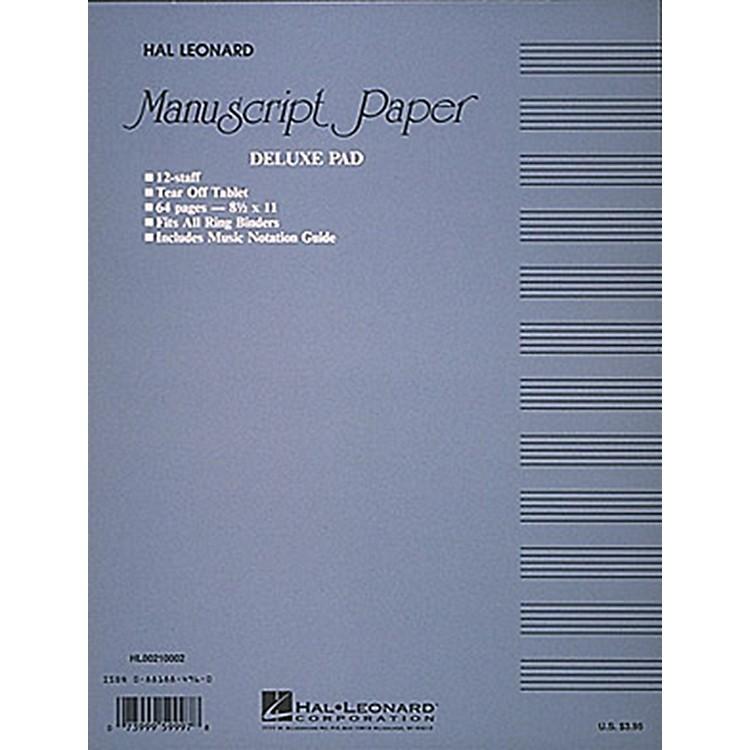 Hal LeonardManuscript Paper96 Page 12 Staves 8 1/2