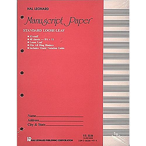 Hal Leonard Manuscript Paper 48 Page 12 Staves