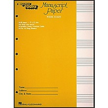 Hal Leonard Manuscript Paper (Wide Staff) 'E-Z Play Today'