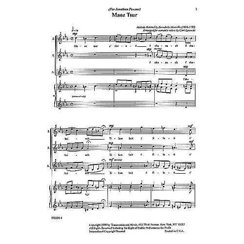 Transcontinental Music Maoz Tsur SSA arranged by Carl Zytowski-thumbnail