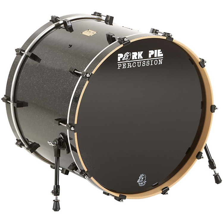 Pork Pie Maple Bass Drum Black Glass 18X24