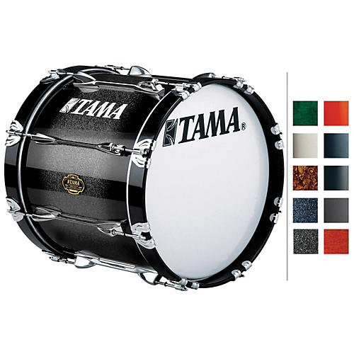 Tama Marching Maple Bass Drum Piano Black 16x30-thumbnail