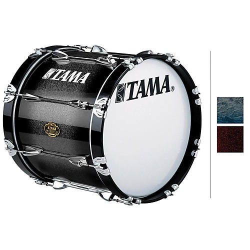Tama Marching Maple Bass Drum Red Sparkle Fade 14x24
