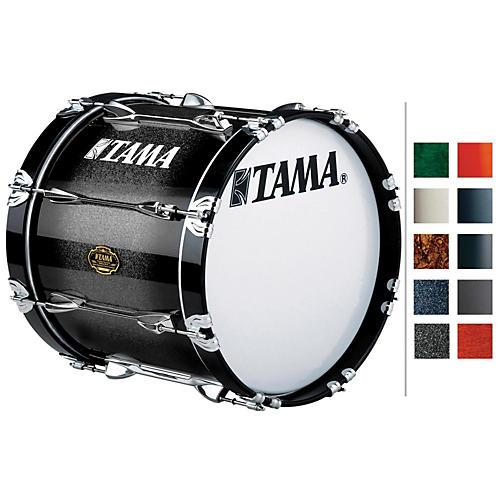Tama Marching Maple Bass Drum Titanium Silver Metallic 14x18