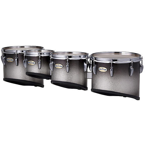 Pearl Maple CarbonCore Marching Tenors Sonic Cut (Drums & Spacers Only) Black Silver Burst 10,12,13,14