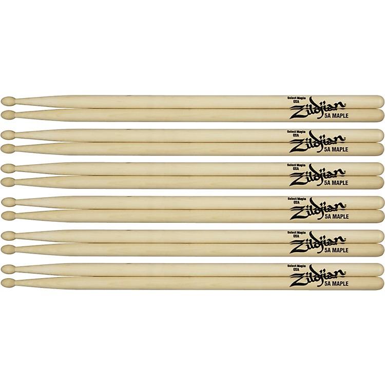 ZildjianMaple Drumsticks 6-PackJazzWood Tip