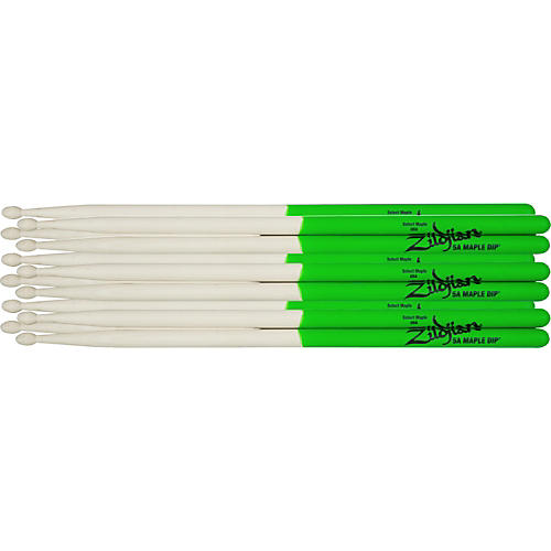 Zildjian Maple Green DIP Drumsticks 6-Pack