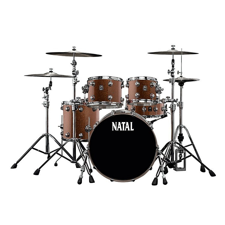 Natal Drums Maple Rock 5-Piece Shell Pack Copper Sparkle
