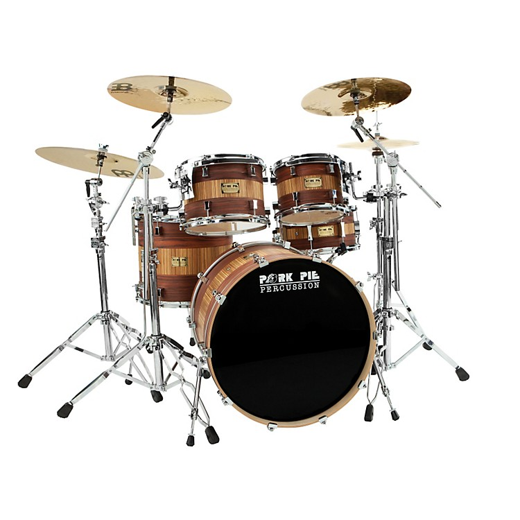 Pork Pie Maple/Rosewood 4 Piece Shell Pack Rosewood Zebra