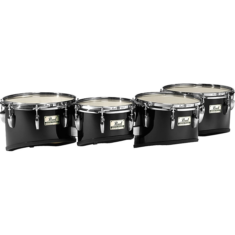 Pearl Maple Shallow Cut Quad Sets #46 Midnight Black 8, 10,12,13 set