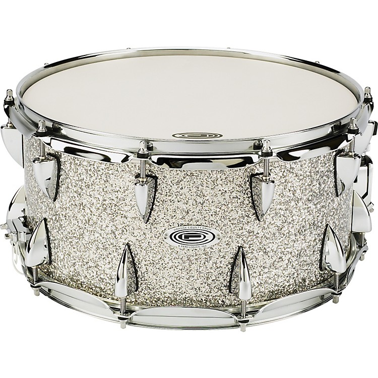 Orange County Drum & Percussion Maple Snare 7x14, Silver Sparkle Silver Sparkle