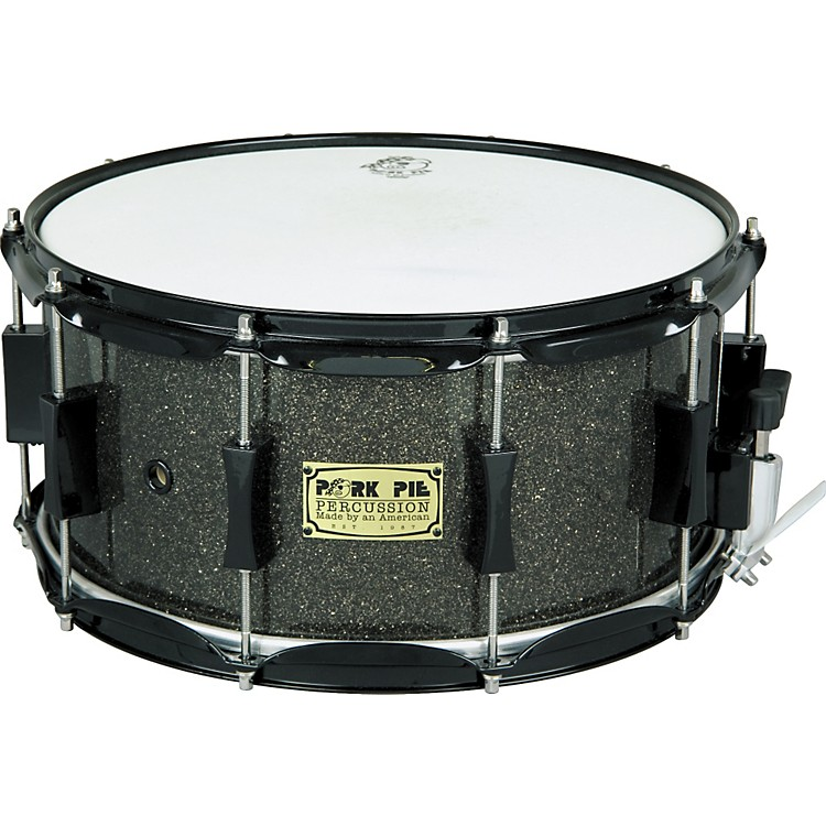 Pork Pie Maple Snare Drum Black Glass 6X14